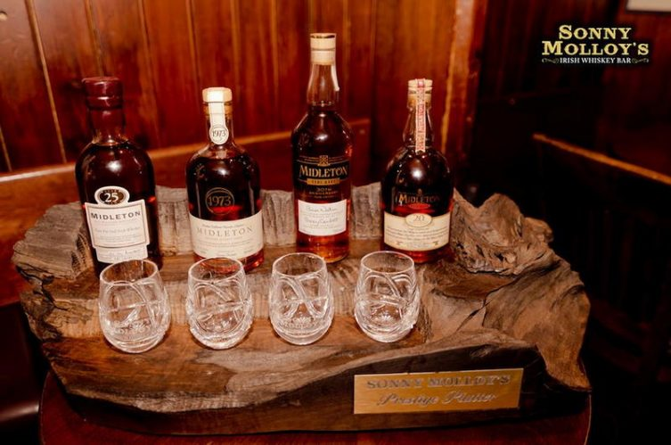 Galway whiskey bar release worlds most expensive Irish whiskey platter