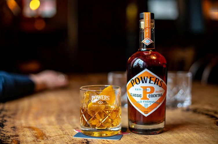 Powers Irish whiskey release old fashioned bottled cocktail