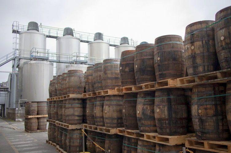 Irish Whiskey Magazine - Great Northern Distillery - Casks in the yard