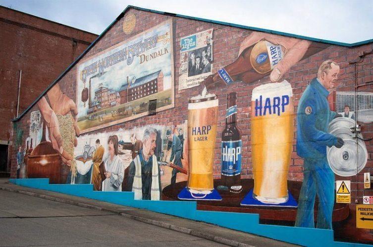 Irish Whiskey Magazine - Great Northern Distillery - Harp Mural