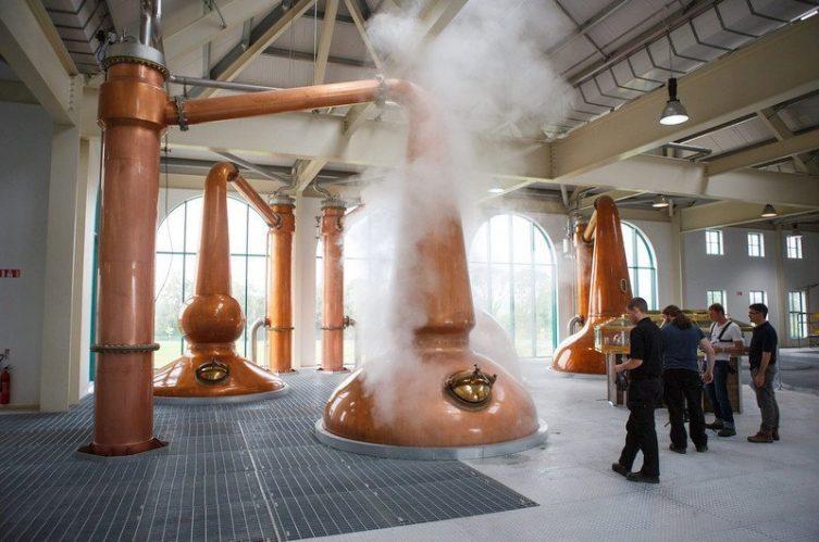 Irish Whiskey Magazine - Tullamore Distillery - Pot Stills