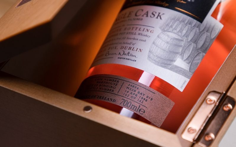 James J. Fox Launch Midleton Very Rare 1998 Single Cask Pot Still Irish Whiskey
