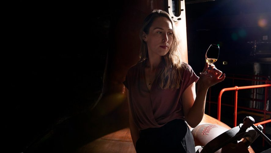 Eva O'Doherty, Distiller, in Micro Distillery