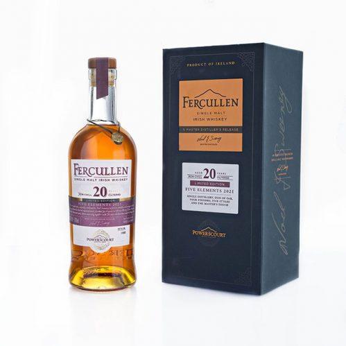 Fercullen Five Elements 20YO Irish whiskey bottleshot